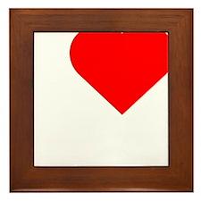 I-love-my-Nanner-Darks Framed Tile
