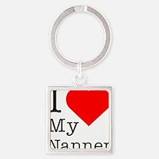 I-love-my-Nanner Square Keychain