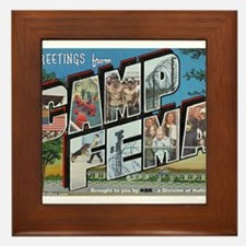 Camp FEMA Framed Tile