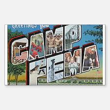 Camp FEMA Rectangle Decal