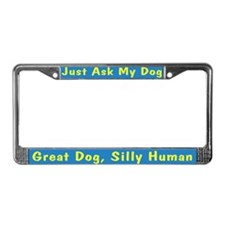 Silly Human JAMD License Plate Frame
