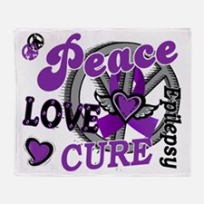 D Peace Love Cure 2 Epilepsy Throw Blanket