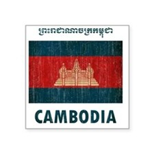 "Cambodia6 Square Sticker 3"" x 3"""