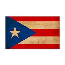 Puerto Ricotex3tex3-paint Rectangle Car Magnet