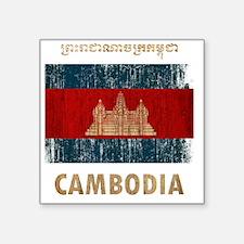 """Cambodia6Bk Square Sticker 3"""" x 3"""""""