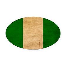 Nigeriatex3tex3-paint Oval Car Magnet