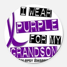 Grandson Round Car Magnet