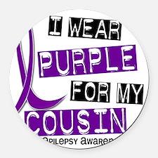 Cousin Round Car Magnet