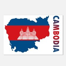 MapOfCambodia1 Postcards (Package of 8)