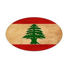 Lebanontex3tex3-paint Oval Car Magnet