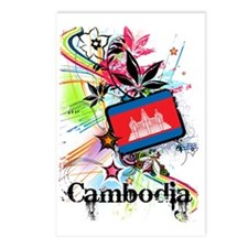 flowerCambodia1 Postcards (Package of 8)