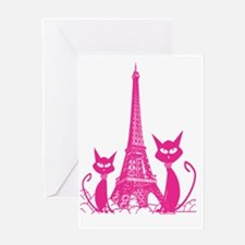 Paris cats Greeting Card