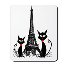 eiffel tower cats 3 FINISHED Mousepad