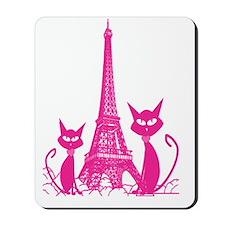 Paris cats Mousepad