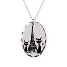 eiffel tower cats 3 FINISHED Necklace