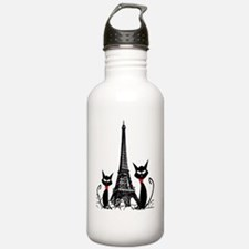eiffel tower cats 3 FI Water Bottle