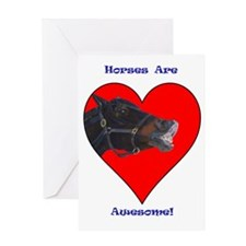 pony_in_heart_awesome Greeting Card