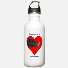 pony_in_heart_awesome Water Bottle