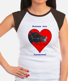 pony_in_heart_awesome Women's Cap Sleeve T-Shirt