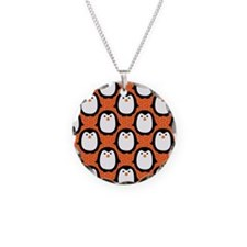 patternpenguinpirateflipflop Necklace