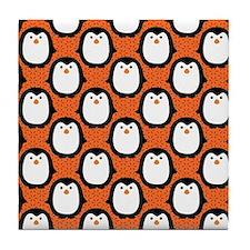 patternpenguinpirateflipflops3 Tile Coaster