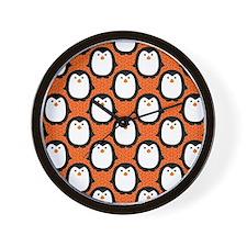 patternpenguinpirateflipflops3 Wall Clock