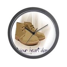 let your heart dance Wall Clock