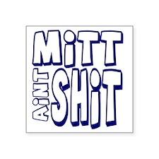 """mittshitwhite Square Sticker 3"""" x 3"""""""