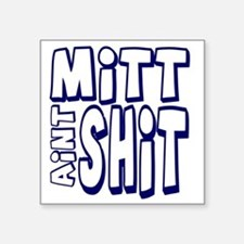 "mittshitwhite Square Sticker 3"" x 3"""