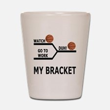 March Madness Basketball Funny T-Shirt Shot Glass