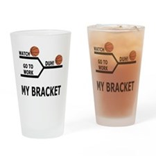 March Madness Basketball Funny T-Sh Drinking Glass