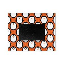patternpenguinsorange Picture Frame