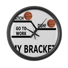 March Madness Basketball Funny T- Large Wall Clock