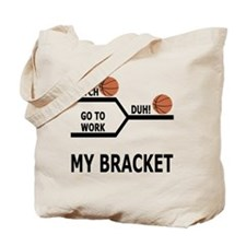 March Madness Basketball Funny T-Shirt Tote Bag