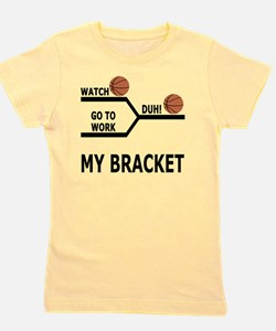 March Madness Basketball Funny T-Shirt Girl's Tee
