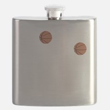 March Madness Basketball Funny T-Shirt Flask