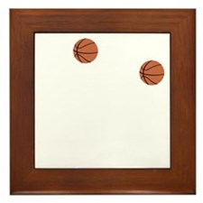 March Madness Basketball Funny T-Shirt Framed Tile