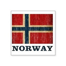 "norway9 Square Sticker 3"" x 3"""