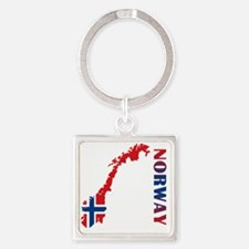 norway11 Square Keychain