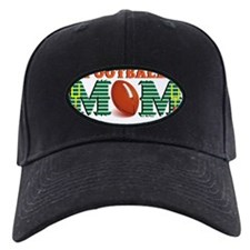 Orange Football MOM Baseball Hat