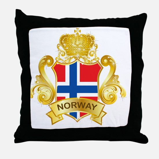 Gold1Norway1 Throw Pillow