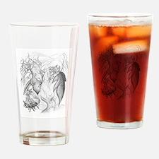 Adam And Eve Christian Art Drinking Glass
