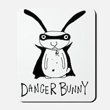 danger bunny Mousepad