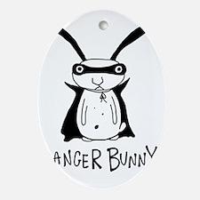 danger bunny Oval Ornament