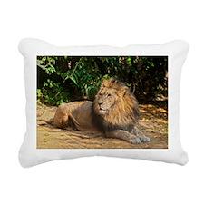 Male Lion Rectangular Canvas Pillow