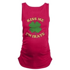 kiss-me-im-irate-vintage Maternity Tank Top
