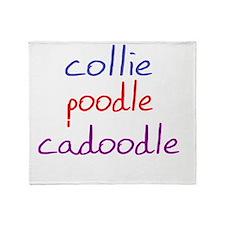 cadoodle_black Throw Blanket