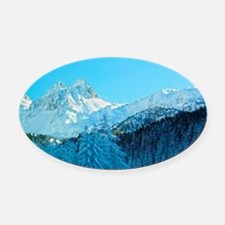 Switzerland Oval Car Magnet