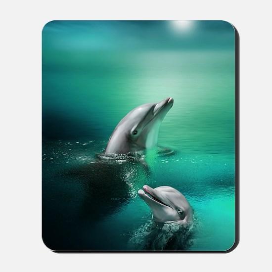 dolphins-cyan Mousepad