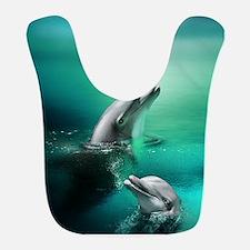 dolphins-cyan Bib